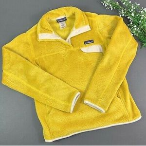 Yellow Patagonia Re-Tool Snap Fleece Pullover